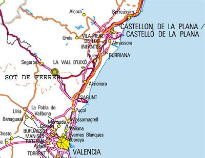 mapa de La Almazara