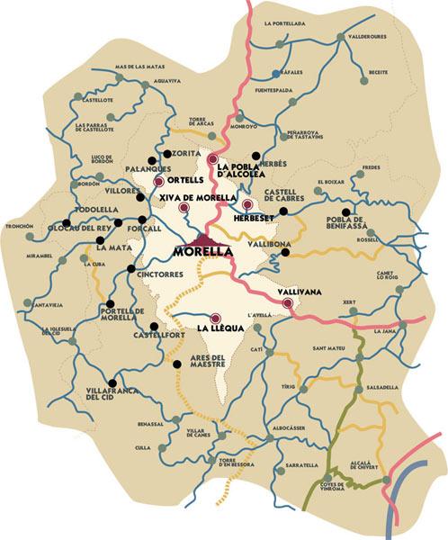 mapa de La Font Del Roser