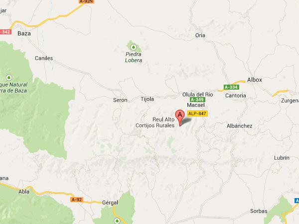 mapa de Reul Alto Cortijos Rurales