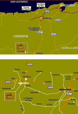 mapa de Casa Rural Campoo