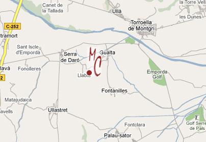 mapa de Els Masos D´en Coll