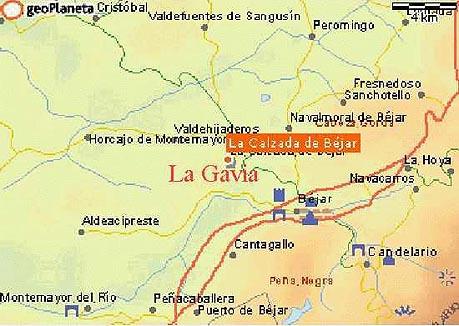 mapa de Casa Rural La Gavia
