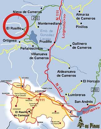 mapa de Casa Los Pinos