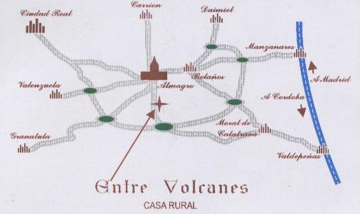 mapa de Entre Volcanes de Almagro