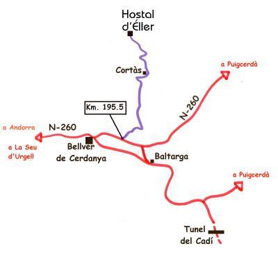 mapa de Hostal d´Éller