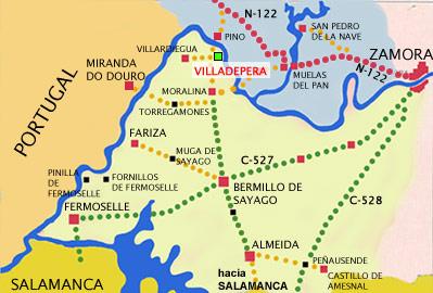 mapa de Casa Rural Carva Chiquita