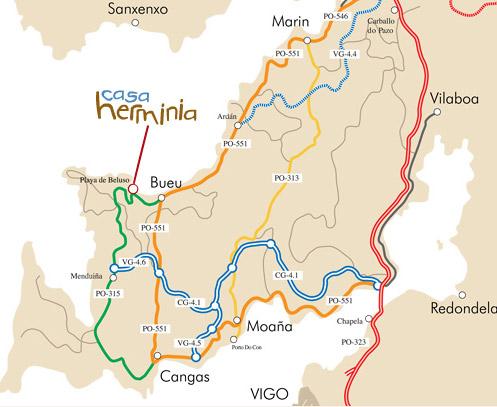 mapa de Casa Herminia