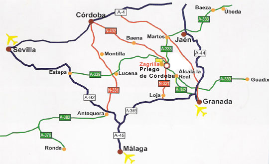 mapa de Hotel Las Rosas