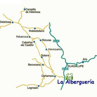 mapa de La Albergueria
