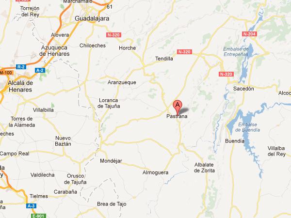 mapa de Spa Rural Pastrana