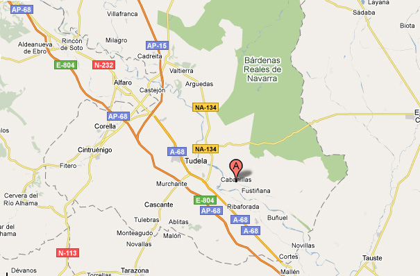 mapa de La Vereda Del Cierzo