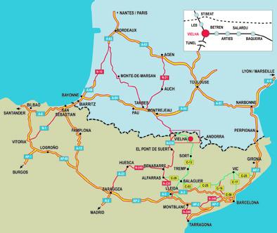 mapa de Camins