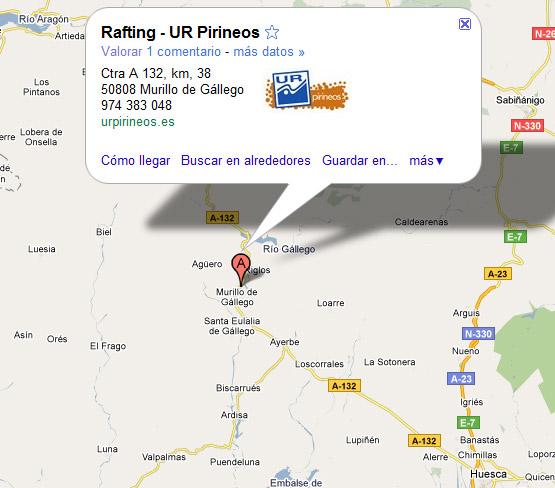 mapa de Ur Pirineos