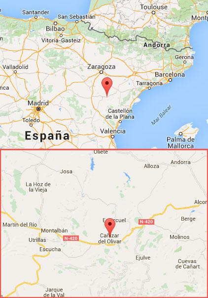 mapa de DINAMIKA, Turismo y Aventura