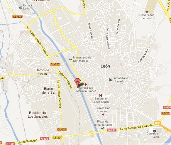mapa de Leon Aventura