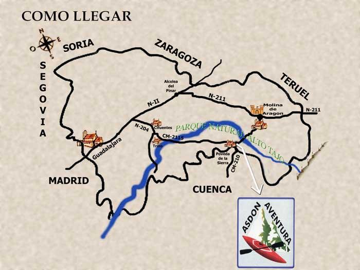 Asdon aventura poveda de la sierra guadalajara for Almacenes poveda