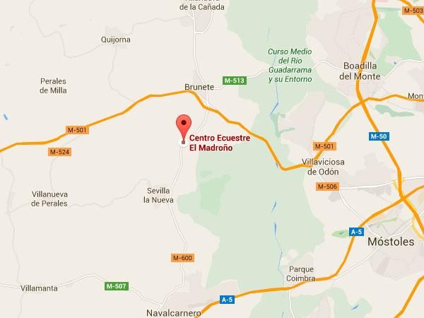 mapa de Centro Ecuestre Brunete - El Madroño