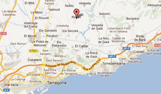 mapa de Restaurante Les Tines De Renau
