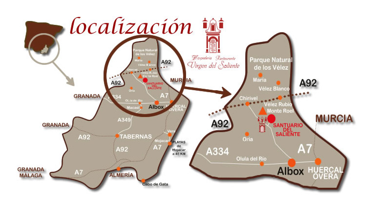 mapa de Restaurante Virgen Del Saliente