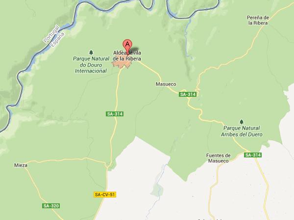 mapa de Restaurante El Portal De Las Arribes