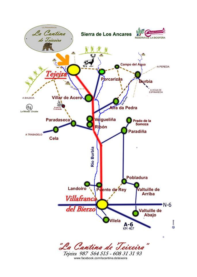 mapa de La Cantina De Teixeira