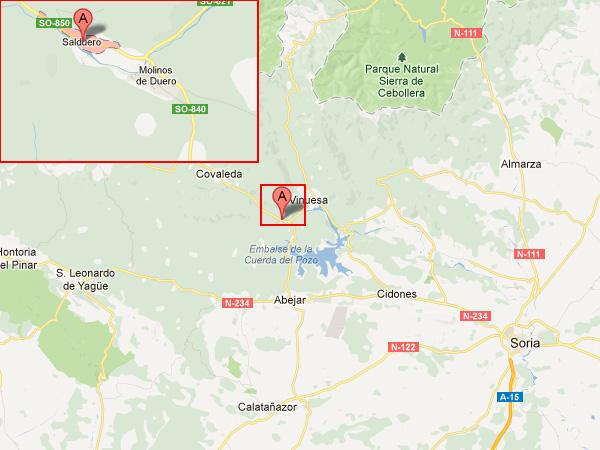 mapa de Las Nieves