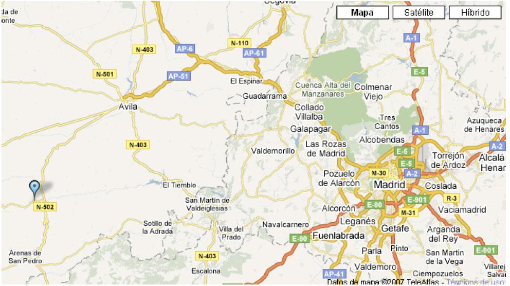 mapa de El Yantar De Gredos