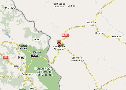 mapa de Restaurante Los Dolmenes
